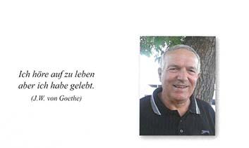 Wir trauern um ein langjähriges Mitglied des OSOV!