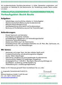 Jobchance in Tiroler Ausserfern