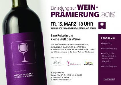 Weinprämierung Intervino 2020 Ktn Messen & KSOV