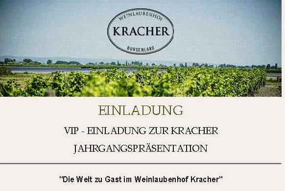 VIP-Einladung für Sommeliers zur Kracher-Jahrgangspräsentation