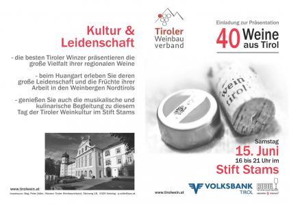 40 Weine aus Tirol in SIlz
