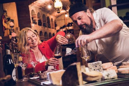 Rohmilchkäse & Weinpairing  Fam. Bachler KSOV