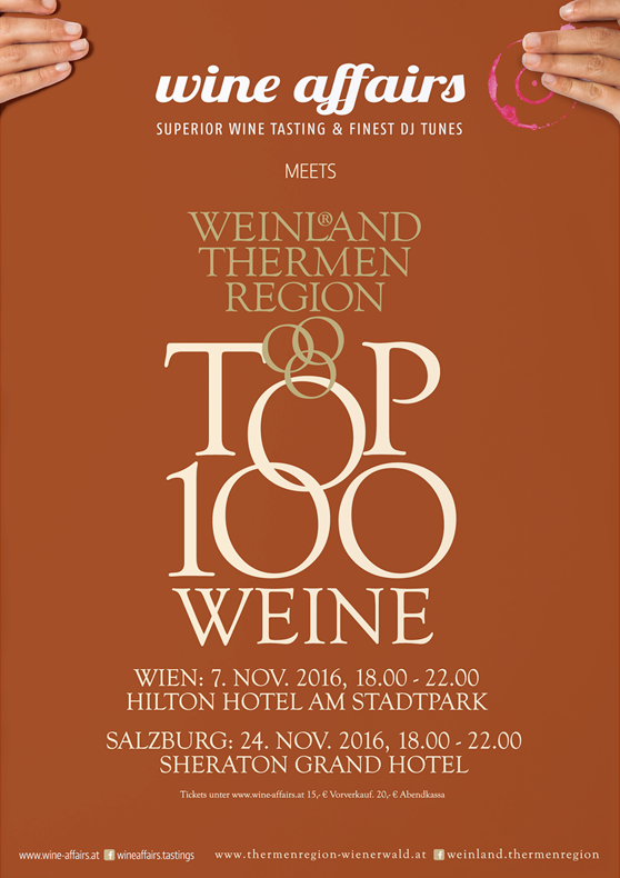 Thermenregion TOP 100 in Wien, powered by wine affairs