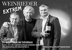 Weinrieder extrem fordert Reinhold Krutzler heraus